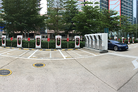 2nd Biggest (South China) Tesla Supercharger Stati...